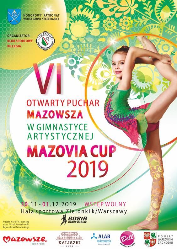 """Puchar Mazowsza w gimnastyce artystycznej """"Mazovia Cup"""" w Starych Babicach."""